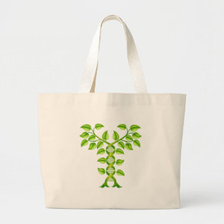 DNA Plant Double Helix Concept Large Tote Bag