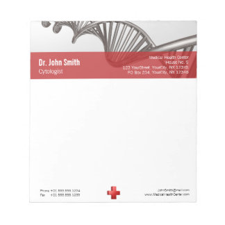 DNA Professional Medical Red Cross - Notepad