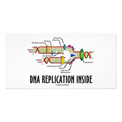 DNA Replication Inside (DNA Attitude) Photo Card Template