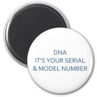 DNA SERIAL & MODEL NUMBER MAGNET