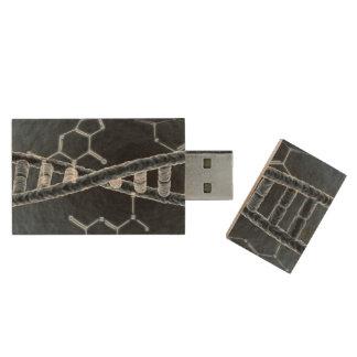 DNA strand Wood USB Flash Drive