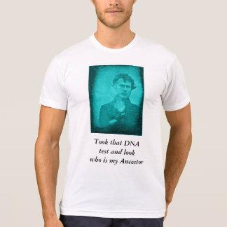 DNA Test Ancestor (Blue Image) T-Shirt