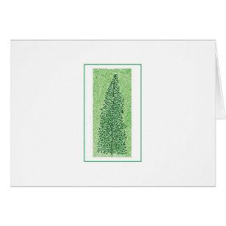 DNA Transcription Tree holiday catd Card
