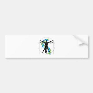 DNA Vitruvian Man Bumper Sticker