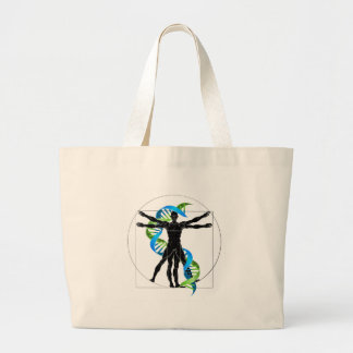 DNA Vitruvian Man Large Tote Bag