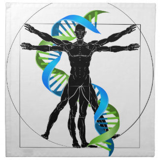 DNA Vitruvian Man Napkin