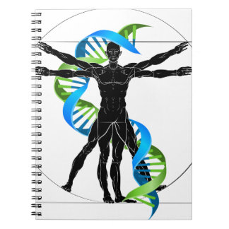 DNA Vitruvian Man Notebook