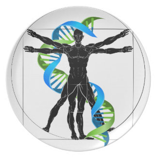 DNA Vitruvian Man Plate