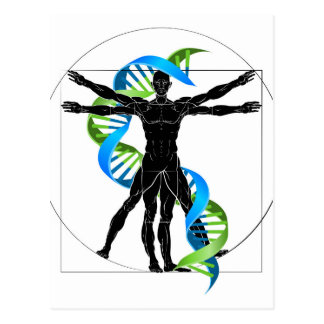 DNA Vitruvian Man Postcard