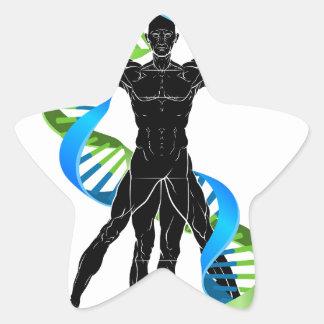 DNA Vitruvian Man Star Sticker