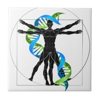 DNA Vitruvian Man Tile