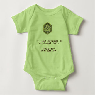 DnD Critical Hit.  D20 Baby Bodysuit