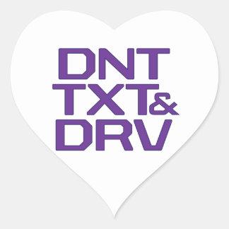 DNT TXT & DRV HEART STICKER