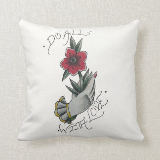 Do All With Love throw pillow