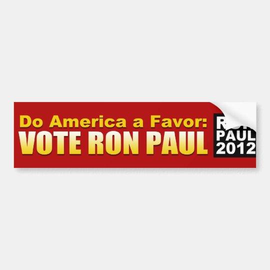 Do America a Favour Bumper Sticker