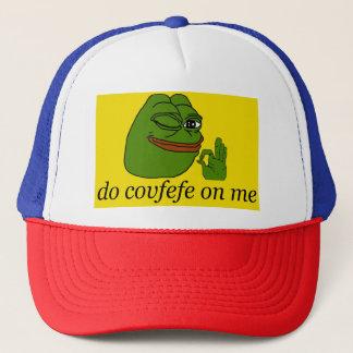Do Covfefe On Me Pepe Gadsden Flag R/W/B Cap