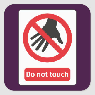 DO emergency touch Square Sticker