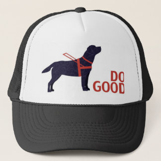 Do Good - Service Dog - Black Lab Trucker Hat