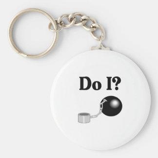 Do I (Ball and Chain) Keychain