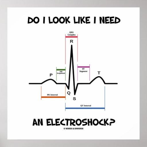 Do I Look Like I Need An Electroshock? EKG ECG Print