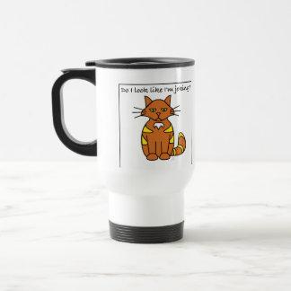 Do I Look Like I'm Joking cartoon cat mug