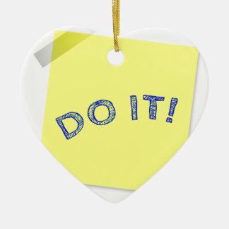 Do it! ceramic ornament