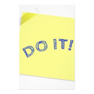 Do it! customized stationery
