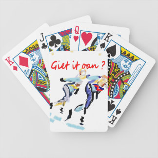Do it pour on? bicycle playing cards