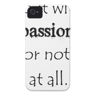 do it with passion or not at all iPhone 4 cover