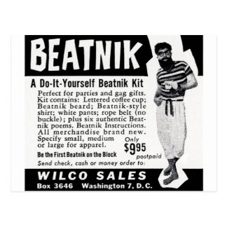 Do It Yourself Beatnik Kit Postcard