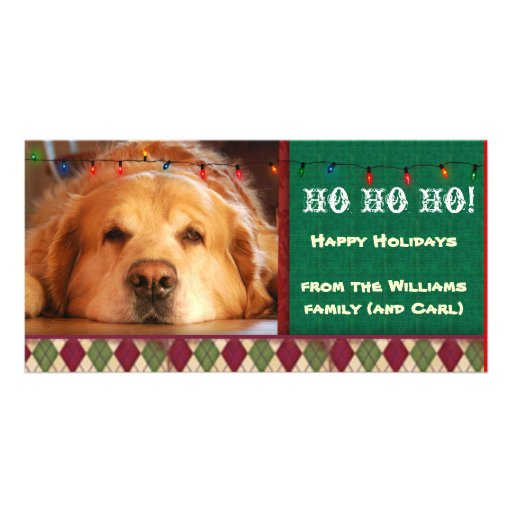 Do it yourself dog photo holiday card photo card