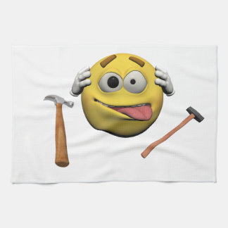Do it yourself emoticon kitchen towel