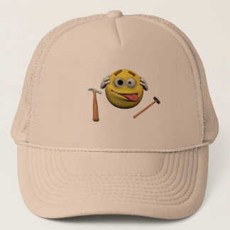 Do it yourself emoticon trucker hat