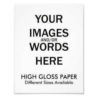Do It Yourself - HIGH GLOSS Print Photograph