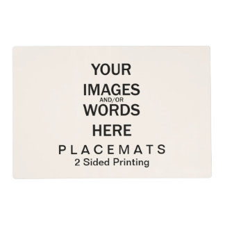 Do It Yourself - Placemats 2 Sided Laminated Placemat