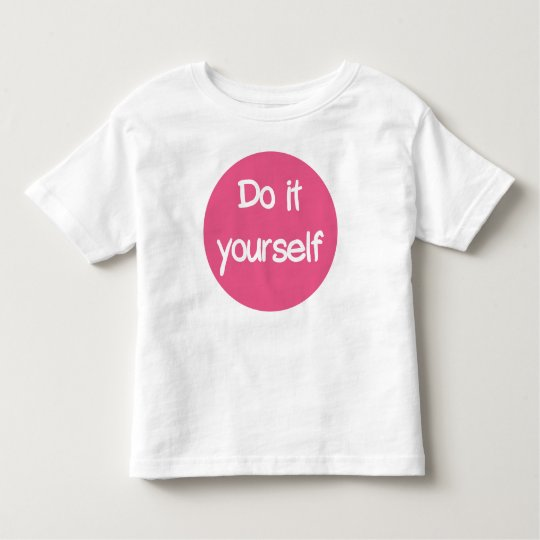 DO it yourself T-shirt of infants
