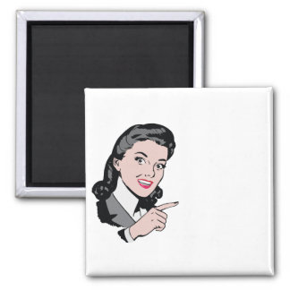 Do it yourself vintage message gift square magnet