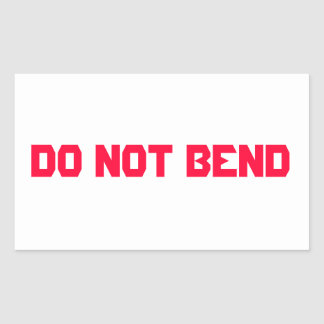 Do Not Bend Mailing Sticker