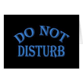 Do Not Disturb - Black Background Note Card