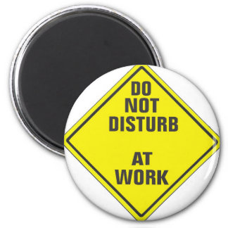 DO NOT DISTURB CUSTOM PRO SIGN FOR ANYONE 2 INCH ROUND MAGNET