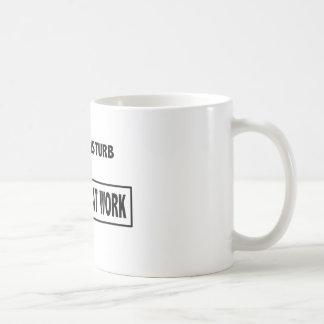 """Do not disturb - introvert at work"" coffee mug"