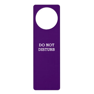 Do Not Disturb Purple Door Hanger by Janz
