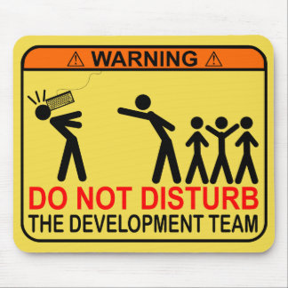 DO NOT DISTURB THE DEVELOPMENT TEAM MOUSE PAD