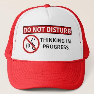 DO NOT DISTURB: Thinking in Progress (Red Hat) Trucker Hat