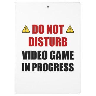 Do Not Disturb Video Game Clipboard
