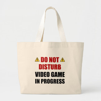 Do Not Disturb Video Game Large Tote Bag