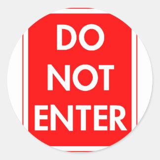 Do Not Enter Classic Round Sticker