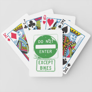 Do Not Enter Except Bikes Bicycle Playing Cards