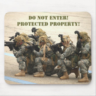 Do not enter! mousepad
