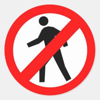 Do Not Enter Round Sticker
